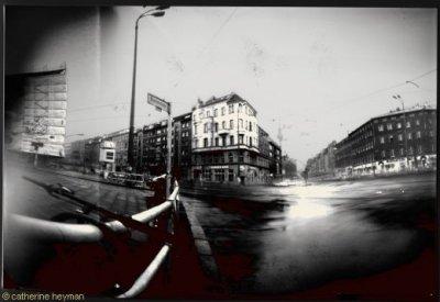 berlin Sténopés de Berlin Embouteillage et guidon de vtt dans grisbrunnenstrasse,