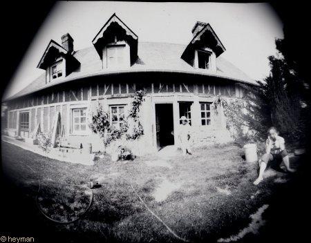 Maison à Pont Audemer, en photo sténopé.