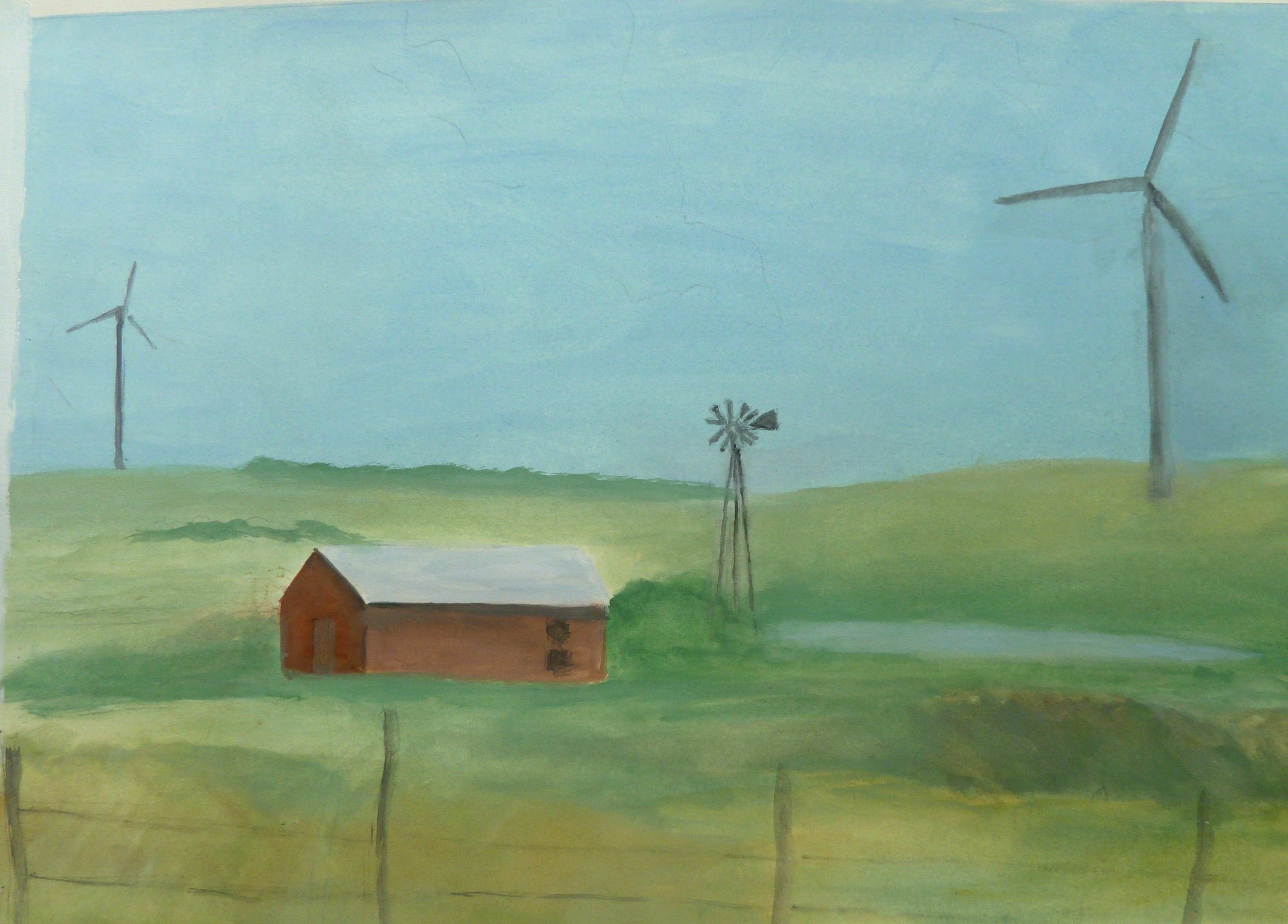 Wind turbines and windmill